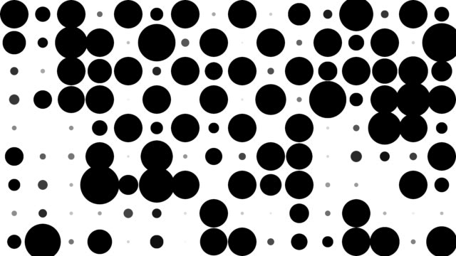 CHESSBOARD PATTERN : black dots, chaotic progress, finally erased (TRANSITION)