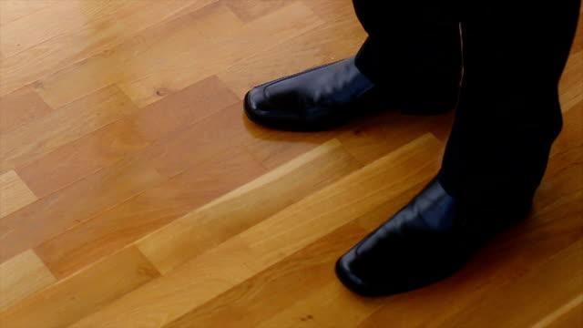 black dress shoes - black dress stock videos & royalty-free footage