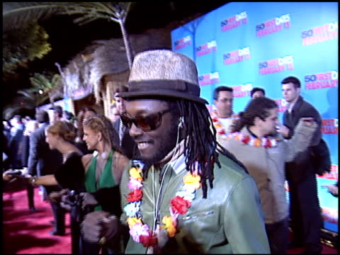 black eyed peas at the '50 first dates' premiere on february 3 2004 - black eyed peas stock videos & royalty-free footage