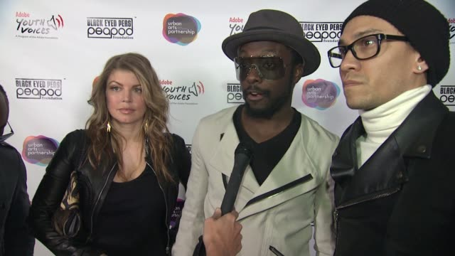 black eyed peas at the peapod adobe youth voices academy launch at urban arts partnership new york ny united states - adobe material stock videos and b-roll footage