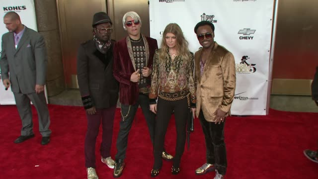 black eyed peas fergie william apldeap taboo at the fashion rocks 2008 at new york ny - the black eyed peas band stock videos and b-roll footage