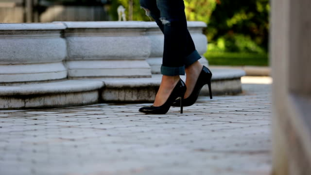 black female shoes - high heels stock videos & royalty-free footage