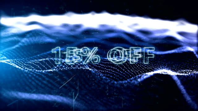 black friday advertisement text banner, promotion 15% off - capital letter stock videos & royalty-free footage