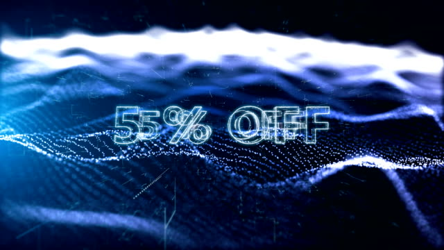 black friday advertisement text banner, promotion 5% off - capital letter stock videos & royalty-free footage