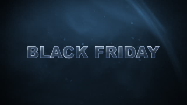 Black Friday Advertisement Text Banner