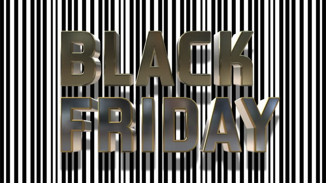 Black Friday And Cyber Monday 3D Looping Animation