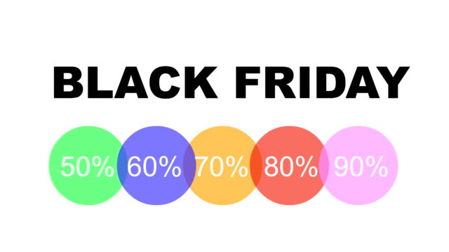 Black Friday Banner with Percentages Discount Label