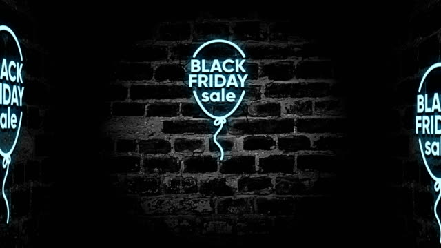 black friday neon sign - black friday stock videos & royalty-free footage