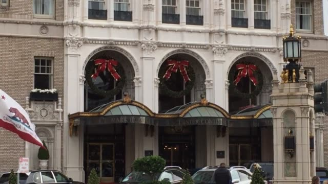 black friday opens the famous fairmont gingerbread house, christmas trees go up in fairmont and mark hopkins - nob hill stock videos & royalty-free footage