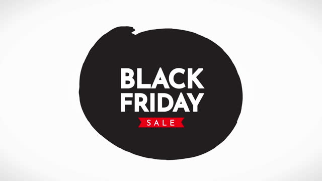 black friday sale animation - black friday stock videos & royalty-free footage