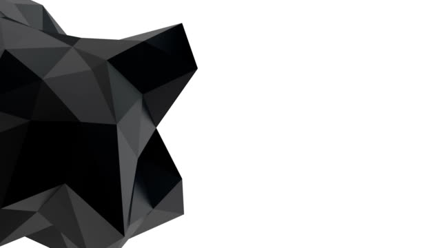 Black geometric shape