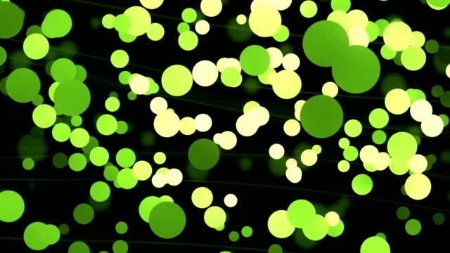 stockvideo's en b-roll-footage met zwarte groene particle achtergrond loopbare - verkoudheidsvirus