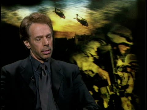 black hawk down premiere; itn jerry bruckheimer interviewed sot - culture thrives on success / other people resentful - première stock videos & royalty-free footage