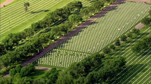 black hills national cemetery  - aerial view - south dakota,  meade county,  united states - memorial event stock videos & royalty-free footage