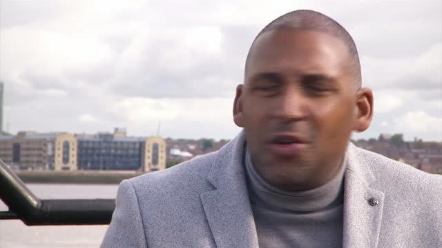 'making history' paul sesay profile england merseyside liverpool ext various of paul sesay along path alongside river paul sesay interview sot... - itv evening news stock videos & royalty-free footage