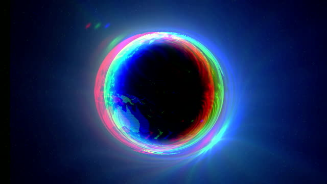 black hole earth circle - light natural phenomenon stock videos & royalty-free footage