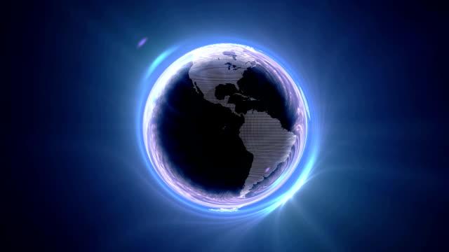ブラックホールのワールドアースホワイト - brightly lit点の映像素材/bロール