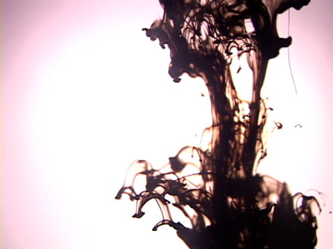 cu, black ink dissolving in water - dissolving stock videos & royalty-free footage
