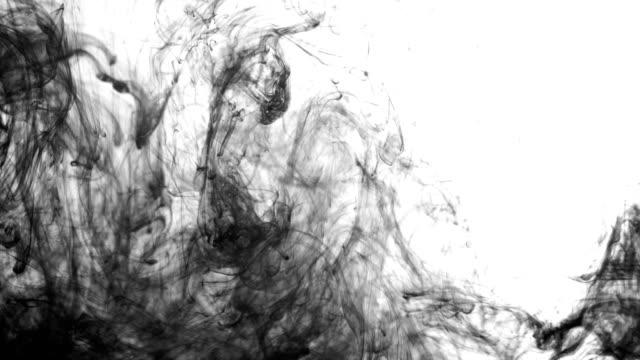 black ink falling into water - squirting stock videos and b-roll footage