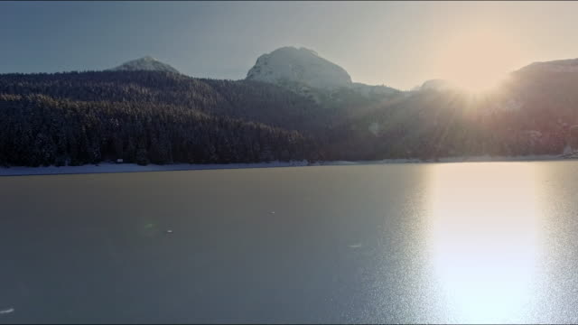 black lake aerial view - durmitor national park stock videos & royalty-free footage