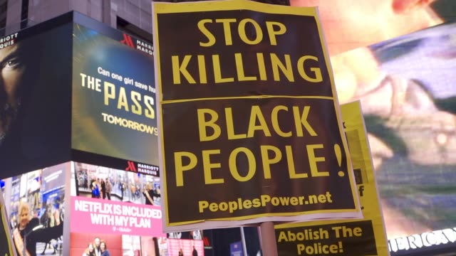 black lives matter activist rallied in grand central station and marched in the streets of midtown manhattan in protest of the attorney general... - police brutality stock videos and b-roll footage