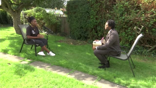 activist sets up charity to provide books and resources for free; england: hertfordshire: watford: ext maja antoine-onikoyi interview sot various of... - itv london tonight stock-videos und b-roll-filmmaterial