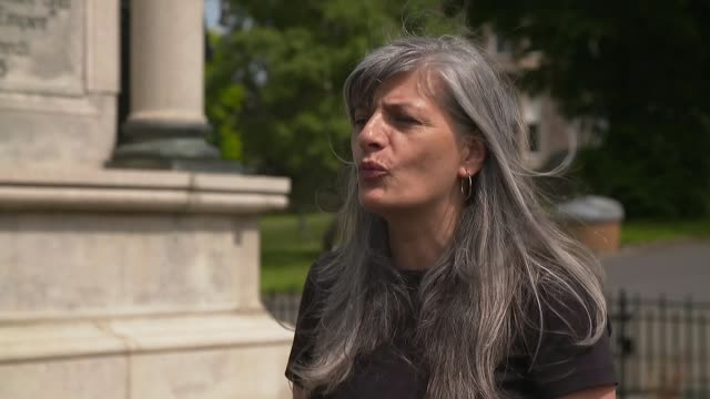 cities forced to confront racist and colonial past scotland glasgow ext zandra yeaman interview sot - war and conflict stock-videos und b-roll-filmmaterial