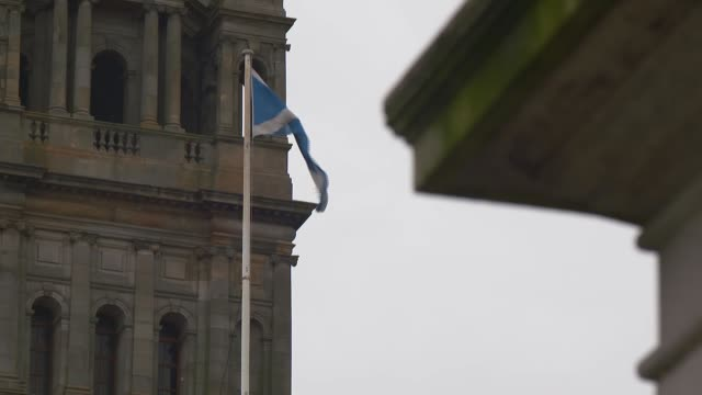 cities forced to confront racist and colonial past scotland glasgow ext various of bridges over the river clyde various of statue of frederick... - war and conflict stock-videos und b-roll-filmmaterial