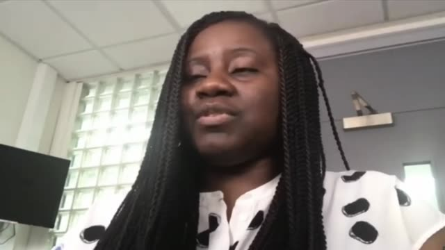 demand for action after boris johnson announces racial inequality commission; england: int marsha de cordova mp interview via internet sot - finance stock videos & royalty-free footage