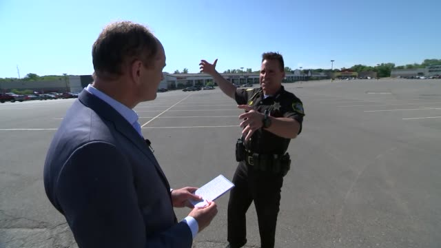 donald trump's confrontational approach rejected by members of us law enforcement usa flint shot of police car along highway sheriff chris swanson... - war and conflict stock-videos und b-roll-filmmaterial