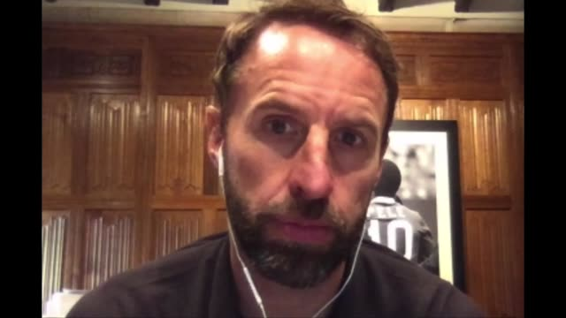 england manager gareth southgate interview; england: int gareth southgate interview via internet sot. - talks of the events in america and the... - incidental people stock videos & royalty-free footage