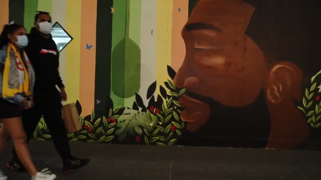 black lives matter mural has been painted in midtown, new york, united states, on november 6, 2020. - president-elect biden defeated incumbent u.s.... - united states presidential election stock videos & royalty-free footage