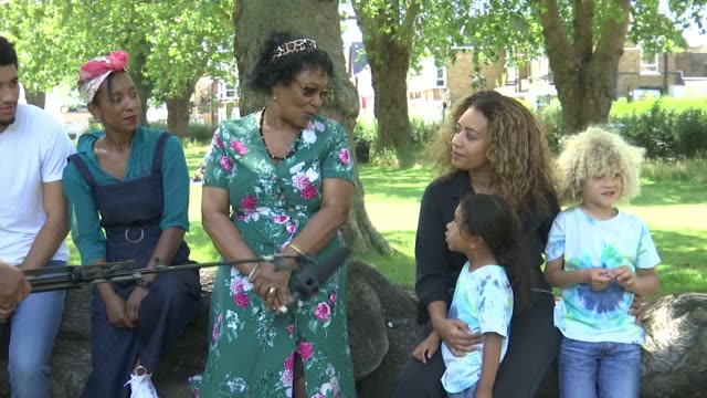 reflections on impact of windrush scandal, structural racism and inequality; england: london: hornsey: ext young child asking question sot evelyn... - child stock videos & royalty-free footage