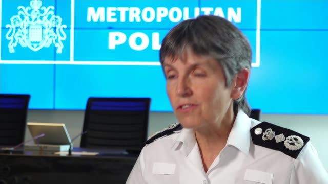 statues boarded up and events cancelled over farright concerns uk london metropolitan police commissioner dame cressida dick interview asking black... - cressida dick stock videos & royalty-free footage