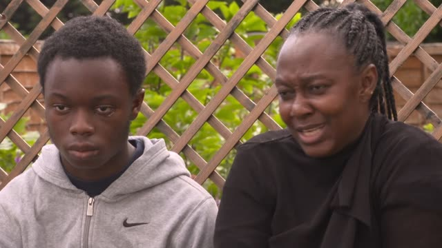 teenage victim of 'racist attack' at london blm protest says police treated him as suspect; england: ext gerard interview sot fanta interview sot... - teenager stock videos & royalty-free footage