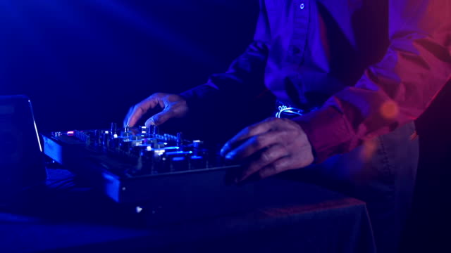 black male disc jockey plays the music - music style stock videos and b-roll footage