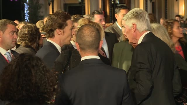'black mass' film premiere red carpet arrivals cumberbatch chatting with press / cumberbatch greeting cast member allen leech and others / more of... - cast member stock videos and b-roll footage