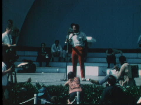 black member of the youth international party speaks at a rally during the 1968 democratic convention in chicago. - 1968 stock videos & royalty-free footage
