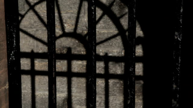 black metal bars and old stone wall cell - victorian stock videos & royalty-free footage