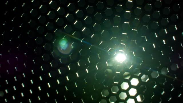 vídeos y material grabado en eventos de stock de metal negro brillante agujeros - cuadrícula