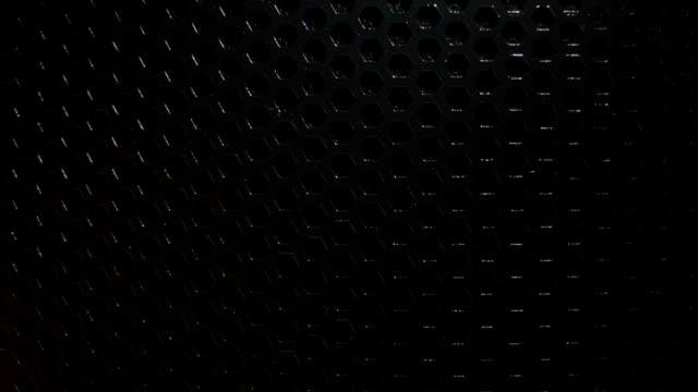 Black metal glowing holes