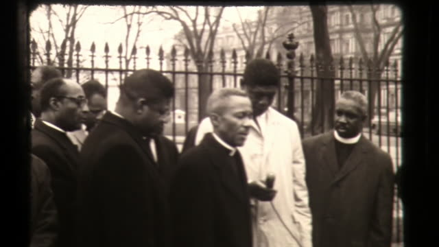 black ministers pray outside white house, civil rights movement in america - minister clergy stock videos & royalty-free footage