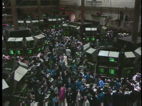 black monday marks the worst day on the new york stock exchange - business or economy or employment and labor or financial market or finance or agriculture stock videos & royalty-free footage