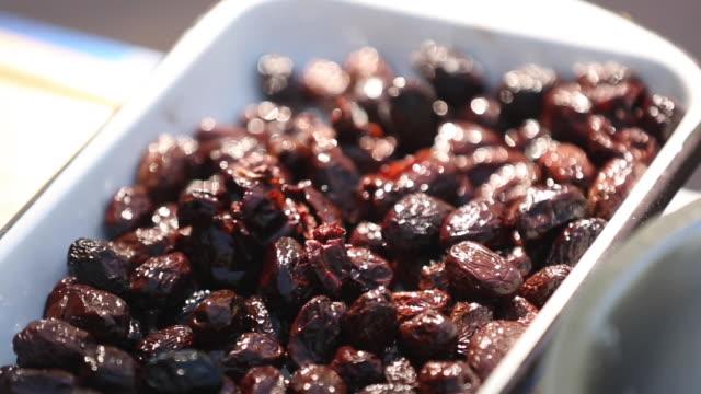 Black olives for focaccia