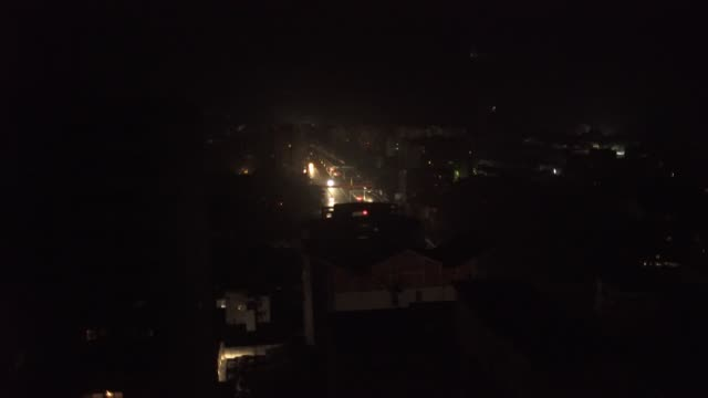 black out in caracas venezuela all the building at night in darkness - power cut stock videos & royalty-free footage