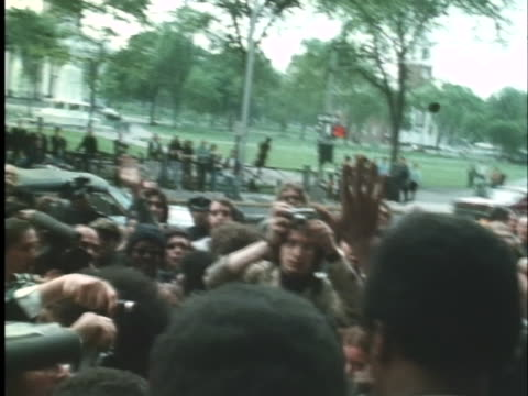 black panther bobby seale walks out of a new haven courthouse after being acquitted on charges of murdering another black panther. - 1971 stock videos & royalty-free footage