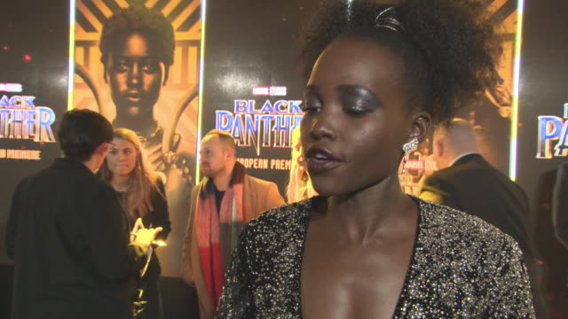 CLEAN 'Black Panther' European Premiere at Eventim Apollo on February 8 2018 in London England