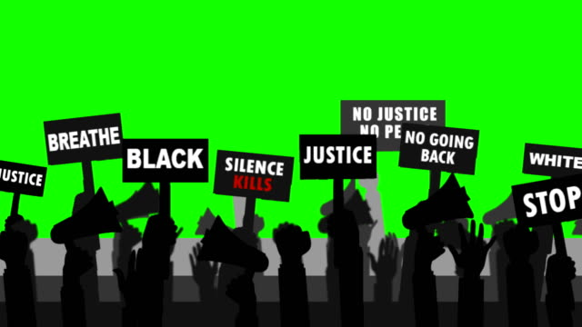 black people protest ( green screen ) - anti racism stock videos & royalty-free footage