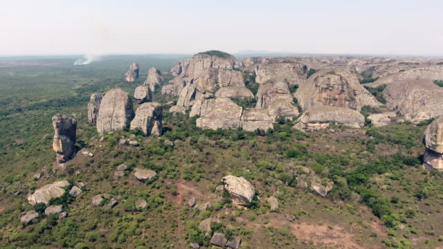 Black rocks of Pungo Andongo, Angola
