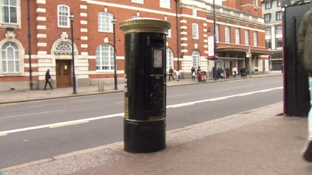 black royal mail post box to celebrate black history month - letterbox stock videos & royalty-free footage